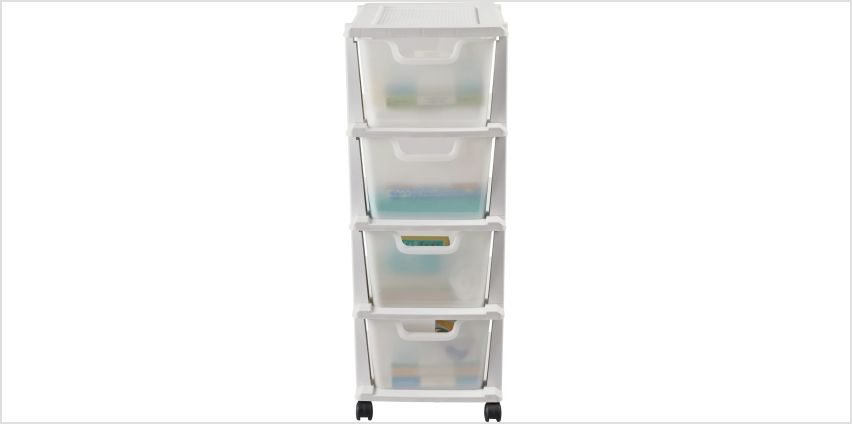 GREAT VALUE 4 DRAWER CART BLACK from Argos