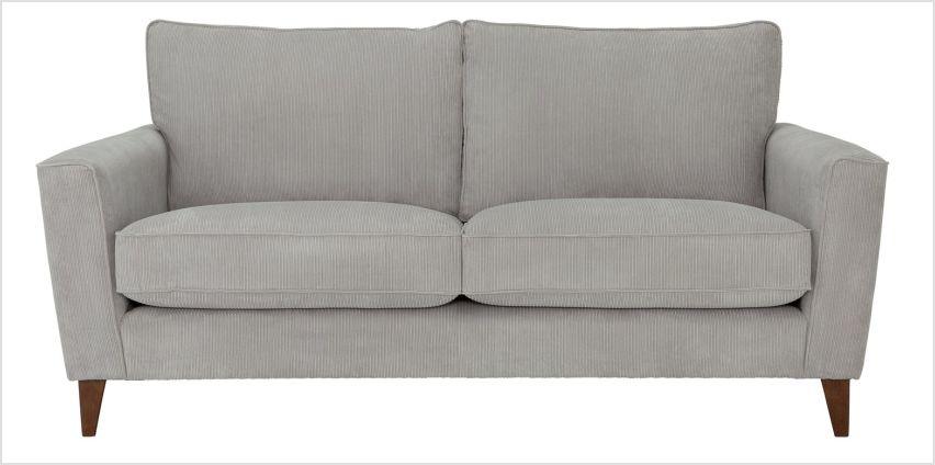 Argos Home Berlin 3 Seater Fabric Sofa - Silver from Argos