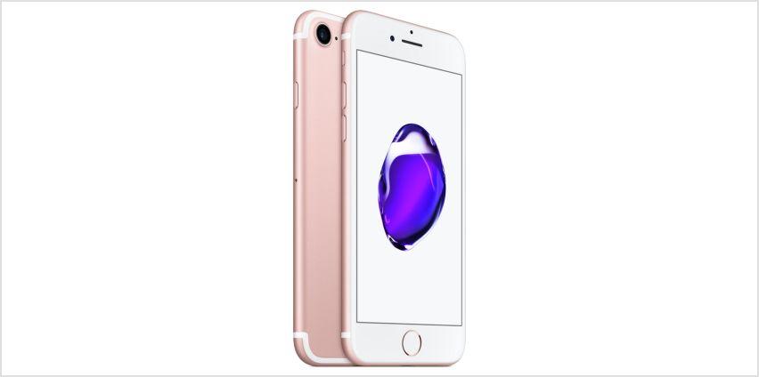 SIM Free iPhone 7 32GB Refurbished Mobile Phone - Rose Gold from Argos