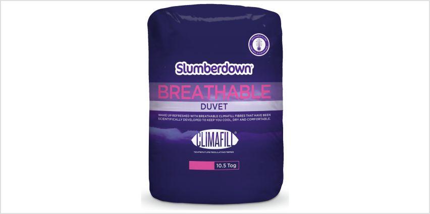 Slumberdown Breathable 10.5 Tog Duvet from Argos