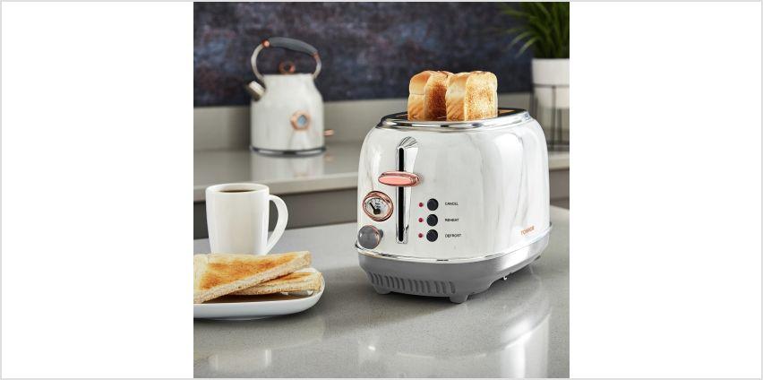 Tower Bottega 2 Slice Toaster - Marble from Argos