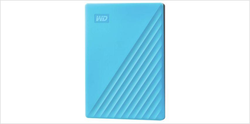 WD Passport 2TB Portable Hard Drive - Blue from Argos