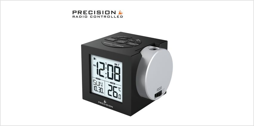 Precision Radio Controlled Projection Digital Alarm Clock from Argos