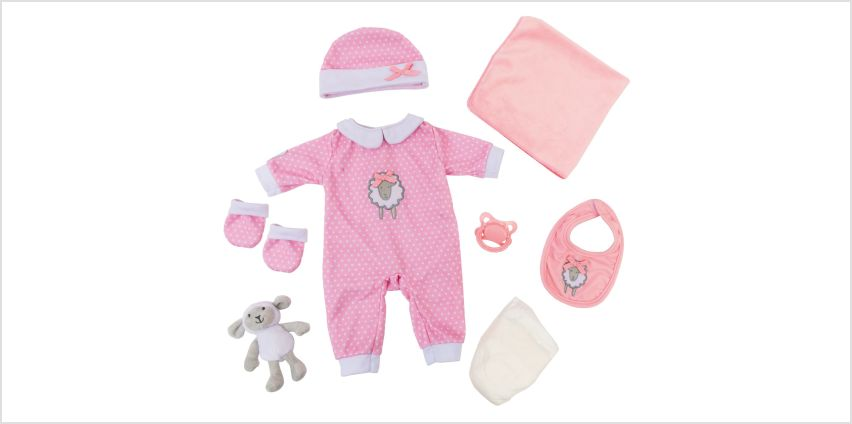 Tiny Treasures Layette Pink Gift Set from Argos