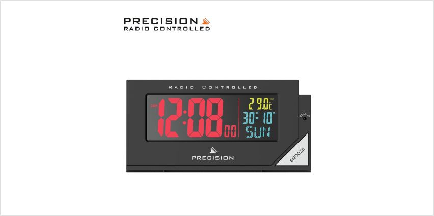 Precision Radio Controlled Colour Display Alarm Clock from Argos