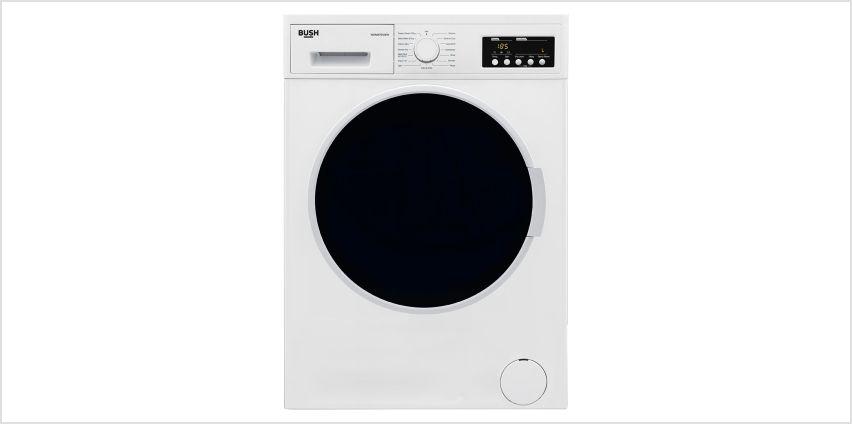 Bush WDNB7512EW 7KG / 5KG 1200 Spin Washer Dryer - White from Argos
