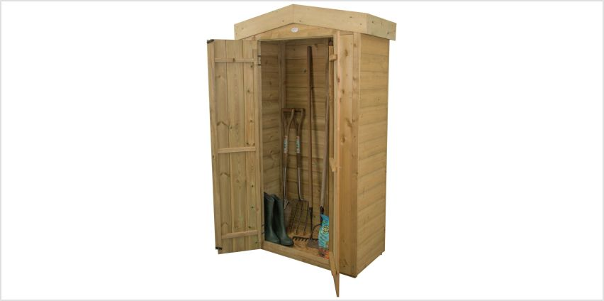 Forest Shiplap Apex Tall Garden Store - 750 Litre from Argos
