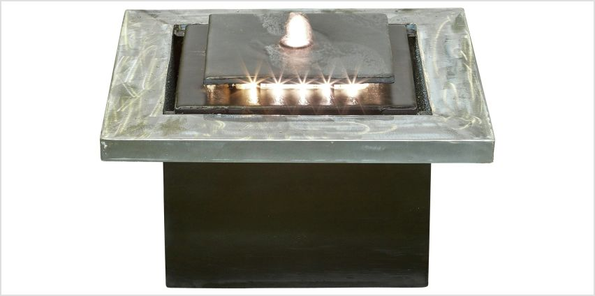 Kelkay Milano Cube with LED Lighting Water Feature from Argos