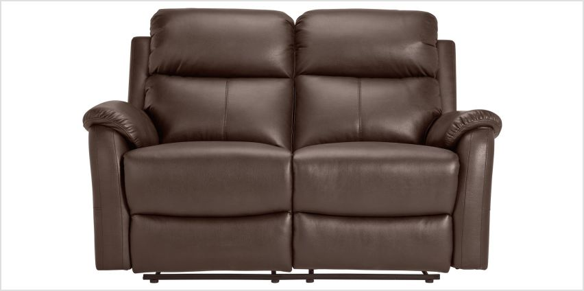 Argos Home Tyler 2 Seater Leather Recliner Sofa - Chocolate from Argos