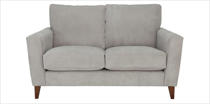 Argos Home Berlin 2 Seater Fabric Sofa - Silver from Argos