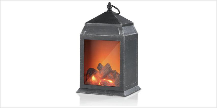 EASYmaxx LED Fireplace Lantern - Small from Argos