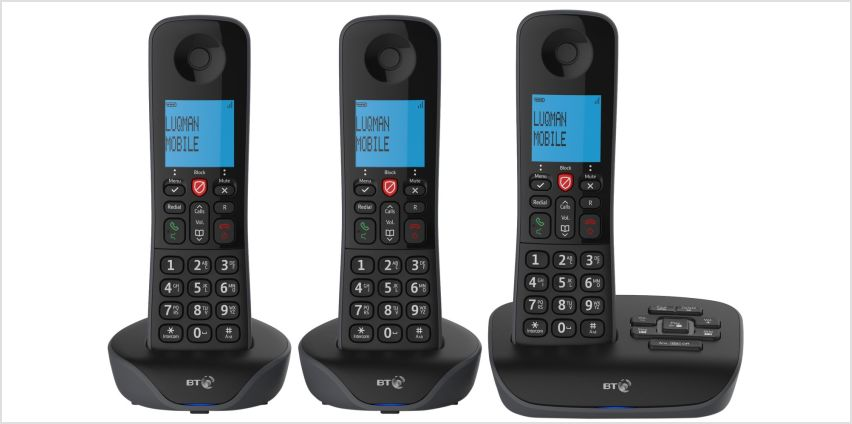 BT Essential Cordless Telephone & Answering Machine - Triple from Argos