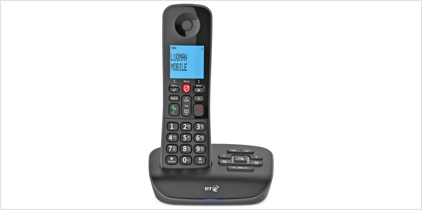 BT Essential Cordless Telephone with Answer Machine - Single from Argos