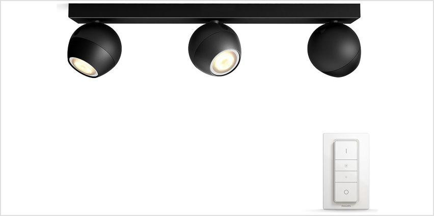 Philips Hue Buckram 230V Bar Ceiling Spotlights - Black from Argos
