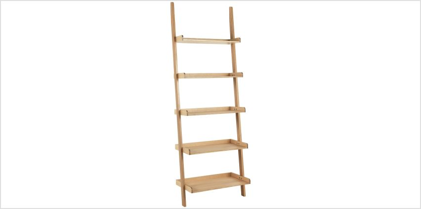 Habitat Jessie Oak Veneer Wide Leaning Ladder Storage Unit from Argos