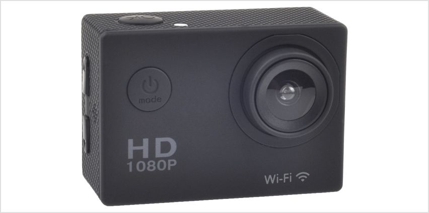 Vibe 1080p HD 16MP Action Camera and Accessory Kit from Argos