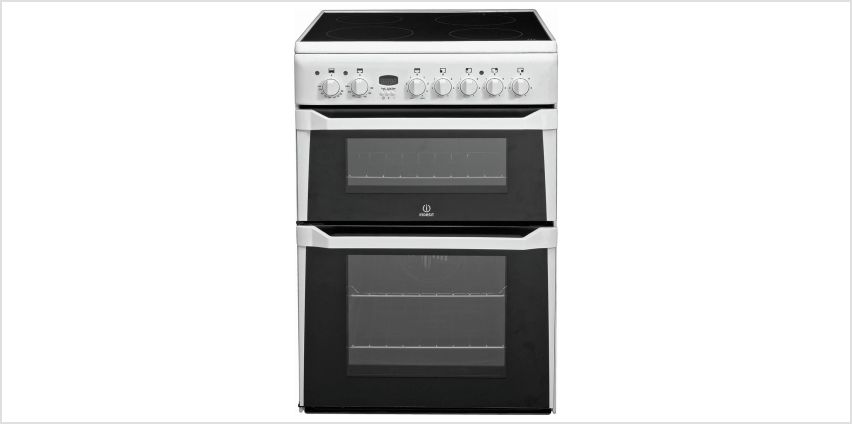 Indesit ID60C2 60cm Double Oven Electric Cooker - White from Argos