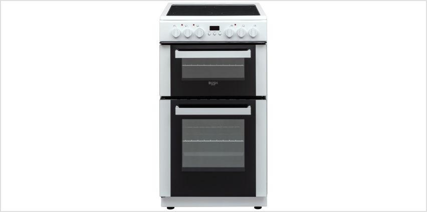 Bush DHBEDC50W 50cm Double Oven Electric Cooker - White from Argos