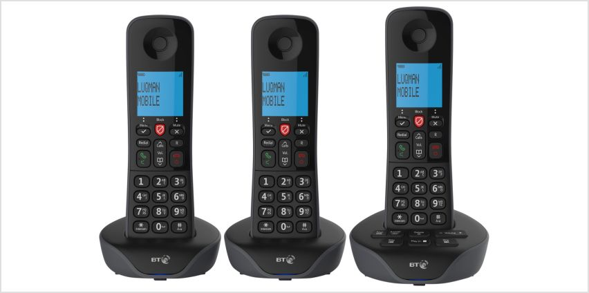 BT7880 Cordless Telephone with Answer Machine - Triple from Argos