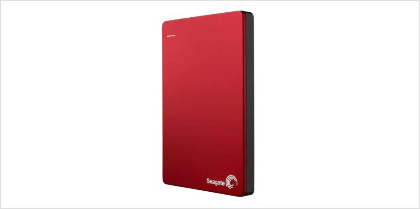 Seagate BUP 2TB Slim Portable Hard Drive - Red from Argos