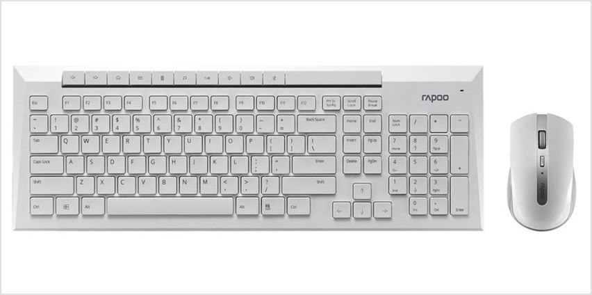 Rapoo 8200P Desktop Wireless Mouse and Keyboard from Argos