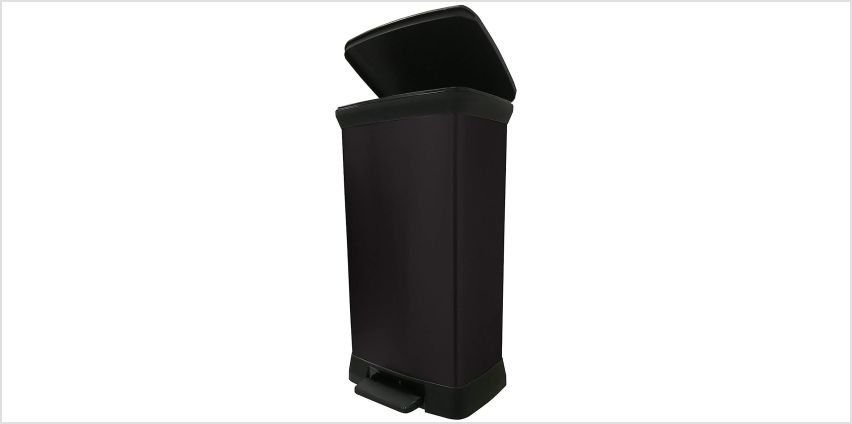 Curver 50 Litre Deco Pedal Bin - Black from Argos