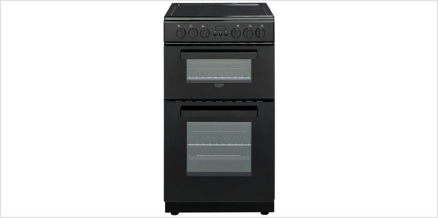 Bush DHBEDC50B 50cm Double Oven Electric Cooker - Black from Argos