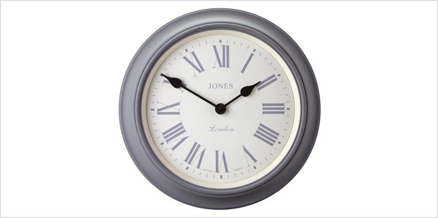 Jones Supper Club Wall Clock - Grey from Argos