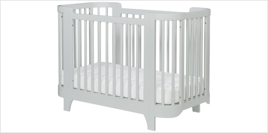Kub Luna Cot And Mattress - Grey from Argos