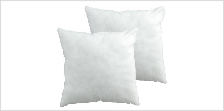 Argos Home Hollowfibre 43x43cm  Cushion Pads - 2 Pack from Argos
