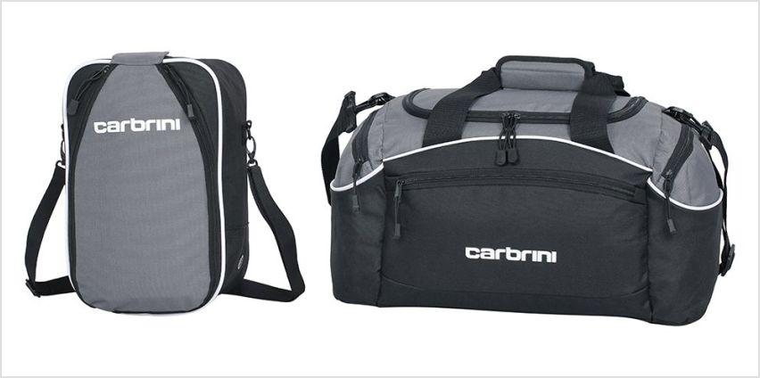 Carbrini Large Grey Holdall and Shoe Bag from Argos