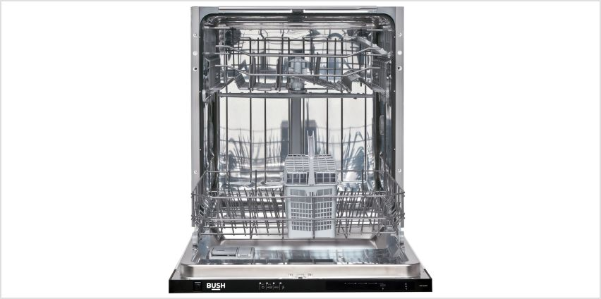 Bush DW12LSINT Full Size Integrated Dishwasher - White from Argos