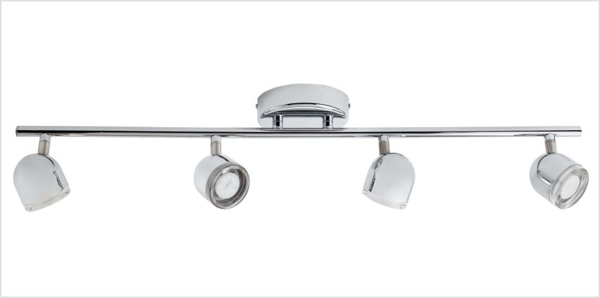 Argos Home Cleo 4 LED Spotlight Bar - Chrome from Argos