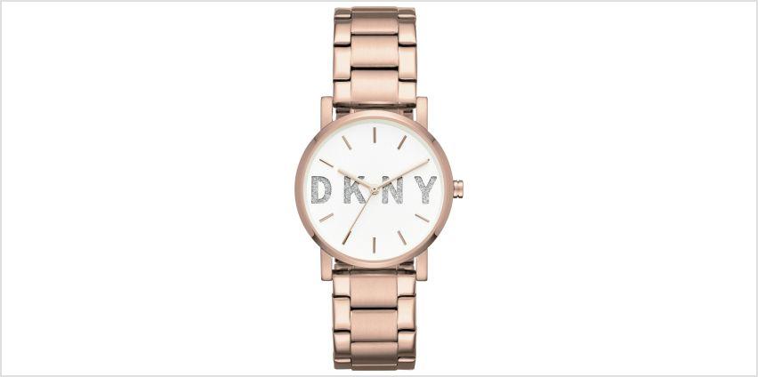 DKNY Ladies Soho NY2654 Rose Glitter Bracelet Watch from Argos