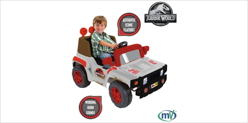 Jurassic World 6V Battery Operated Ride On Jeep from Argos
