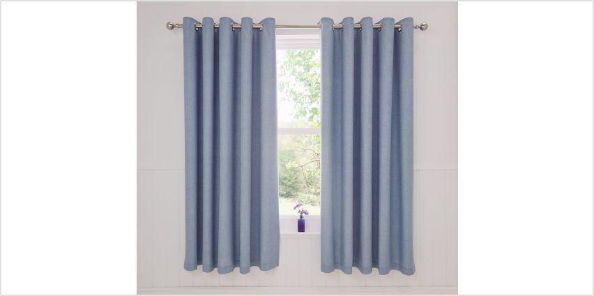 Dreams N Drapes Rathmoore Lined Curtains - 168x183cm - Blue. from Argos