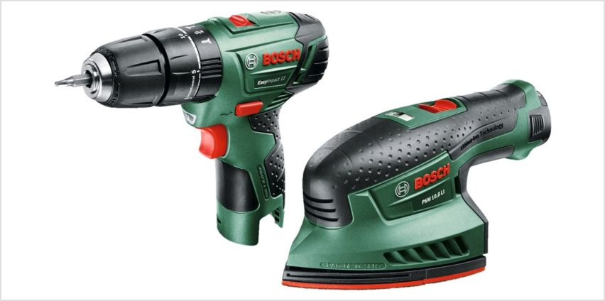 Bosch Cordless EasyImpact 12 & EasySander 12 with Battery from Argos