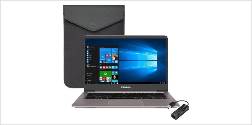 Asus Zenbook 14 Inch i3 4GB 256GB Laptop Bundle from Argos