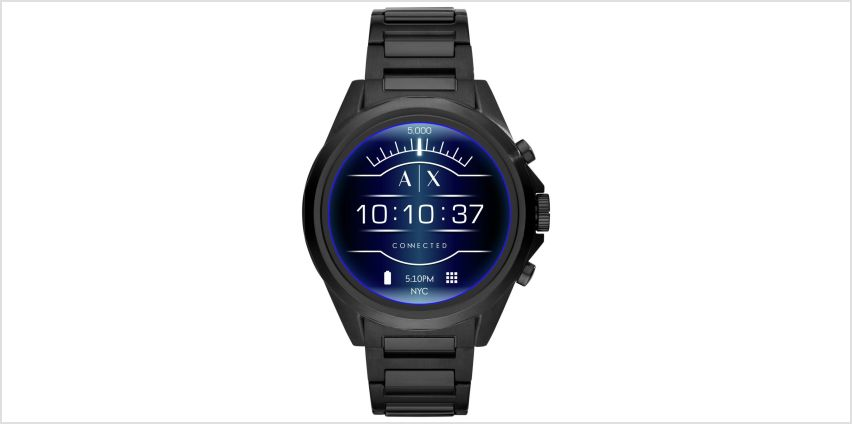 Armani Exchange Connected Smart Watch - Black from Argos