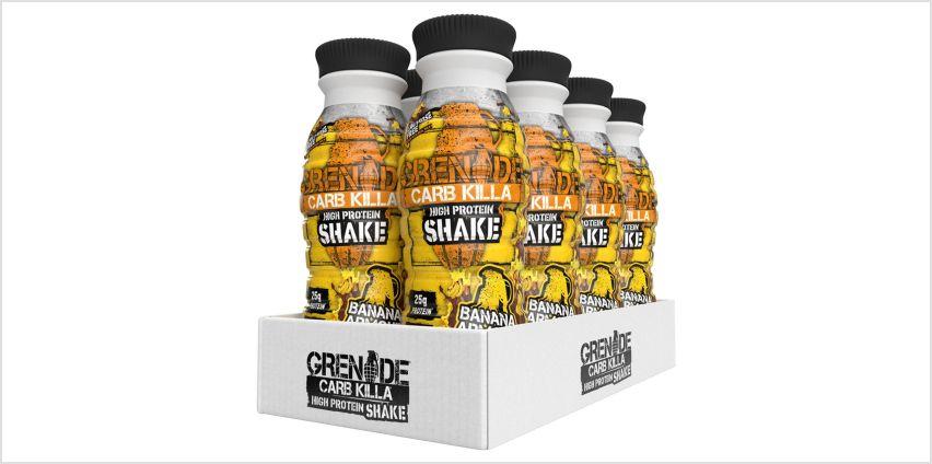 Grenade Carb Killa Banana Armour Protein Shake - 8 x 330ml from Argos