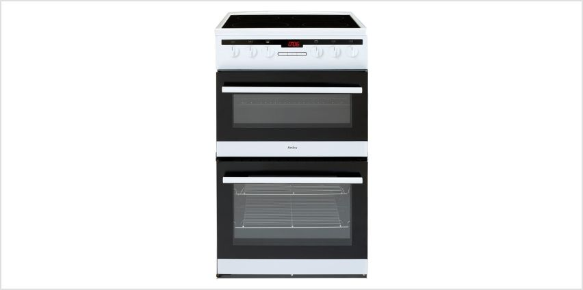 Amica AFC5550WH 50cm Double Oven Electric Cooker - White from Argos