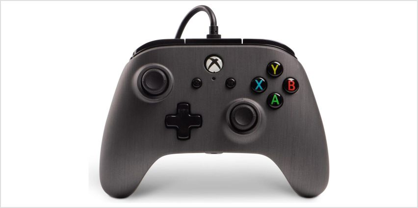 Enhanced Wired Controller for Xbox One - Brushed Gunmetal from Argos