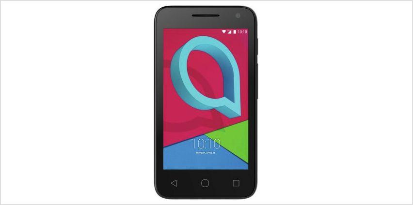 EE Alcatel U3 Mobile Phone - Black from Argos