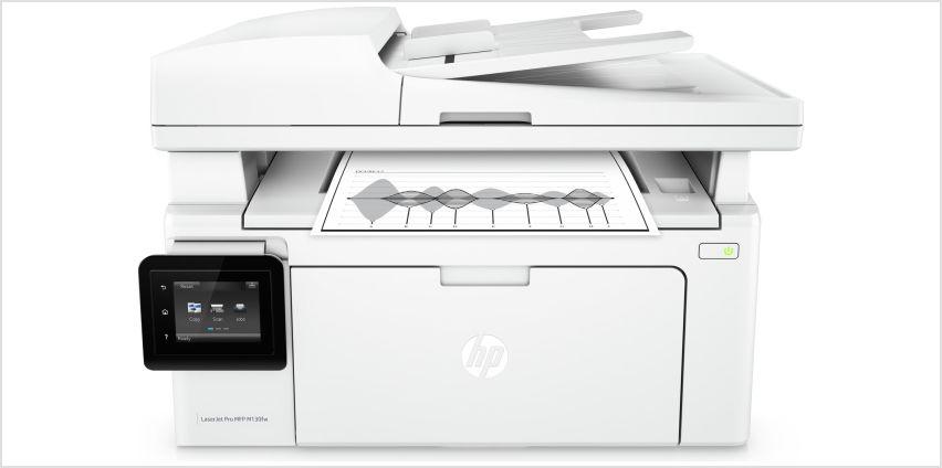 HP LaserJet Pro M130FW All-in-One Wireless MFP Mono Printer from Argos