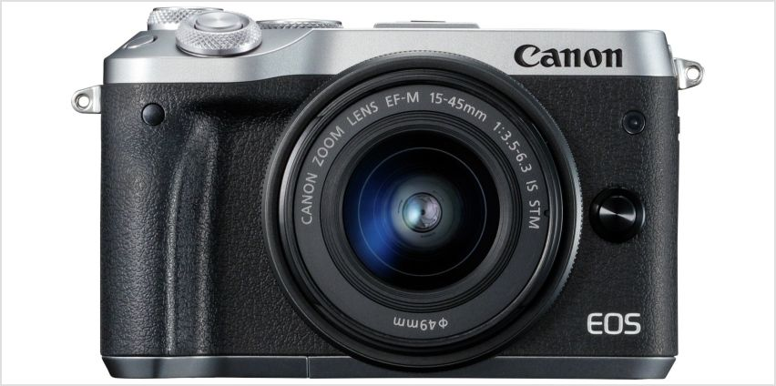 Canon EOS M6 Mirrorless Camera With 15-45mm Lens from Argos
