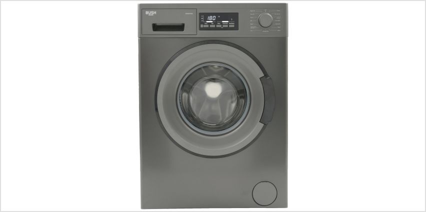 Bush WMDFXINX 8KG 1400 Spin Washing Machine - Dark Inox from Argos
