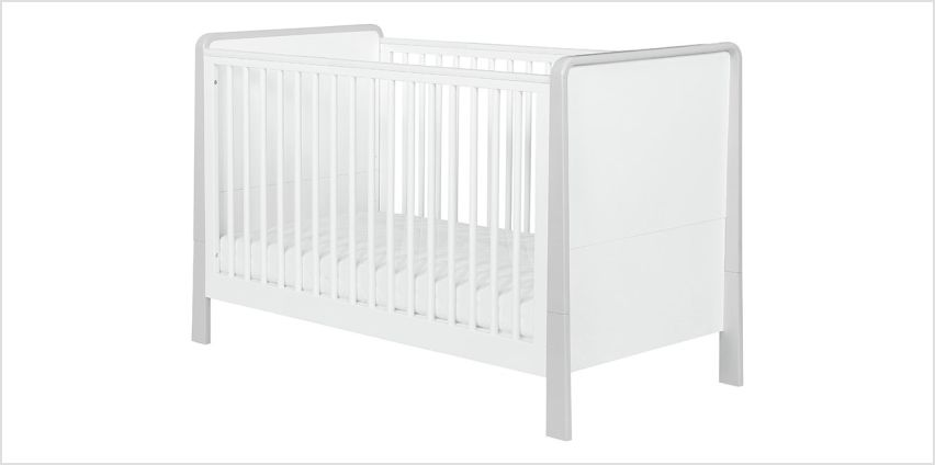 Kub Dulcia Cotbed - White and Grey from Argos