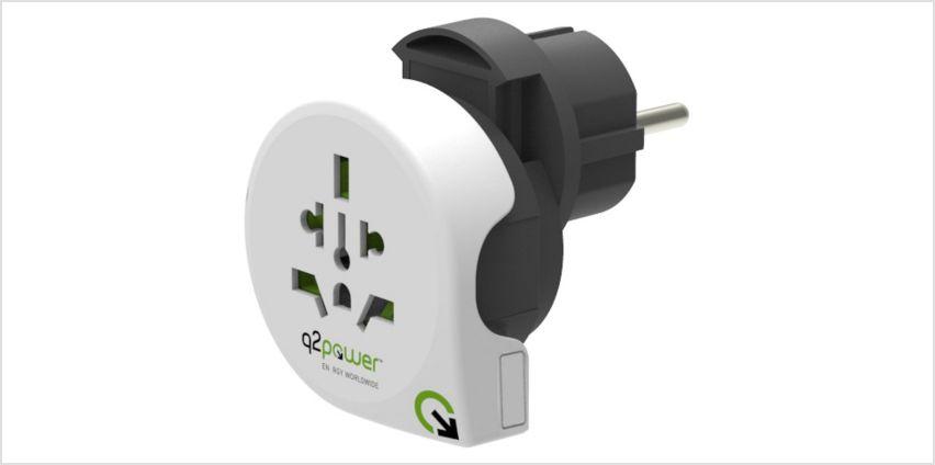 Q2Power 3-in-1 World Travel Adapter from Argos