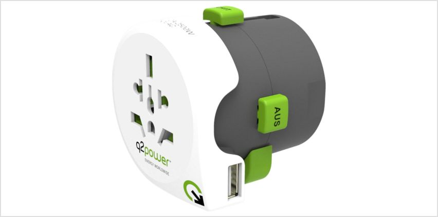Q2Power 2.1 Amp USB All-in-One World Travel Adapter from Argos