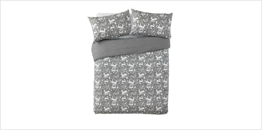 Argos Home Stag Print Brushed Cotton Bedding Set - Double from Argos